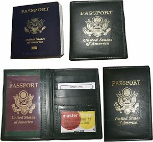 Lot of 3 New lambskin leather Passport cover. ID case credit card wallet BNWT