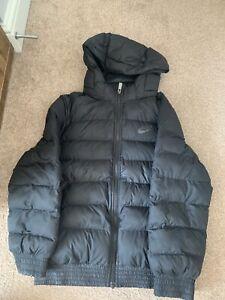 Boys Black Nike Puffer Jacket  Coat Medium 10-12
