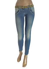 MET jeans donna effetto delave - Cintura non removibile con strass - PROMO