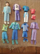 Polly Pocket Boy Male Lot Set Outfits Clothes w/ Matching Shoes M40