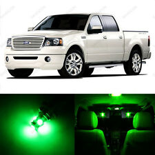 9 x Green LED Interior Light Package For 2004 - 2008 Ford F-150 F150
