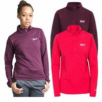 DLX Womens Long Sleeve 1/2 Zip Pullover Gym Top Active Workout Cristina