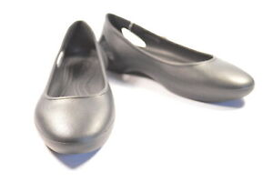 Crocs Laura Flat Black Standard Fit 204014-001 US7 Ladies Flat Shoes