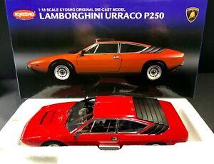 Kyosho 1:18 Lamborghini Urraco P250 - Red - BRAND NEW - RARE