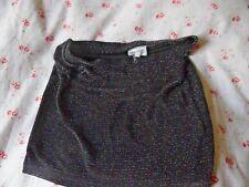 American Retro - Micro Mini Skirt - Stretchy Black and Multi coloured Lurex - 1