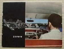 FORD ZEPHYR Mk II SALOON Car Sales Brochure 1958 #F5691/957