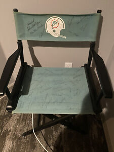 Authentic Team-Signed 1972 Miami Dolphins Coaches Super Bowl Chair