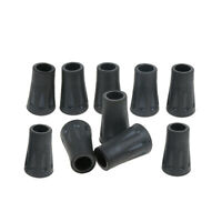 10x Hiking Trekking Pole Cane Walking Stick Crutches Replacement Rubber Tips