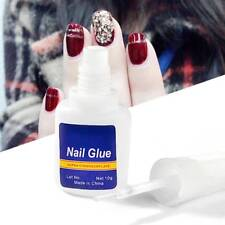 10g Professional EXTRA STRONG Nail Art Brush Glue For False Fake Tips Clear