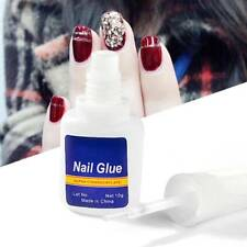 10g Nail Art Glue With Brush On Strong Adhesive Fake Acrylic False Tip Tool