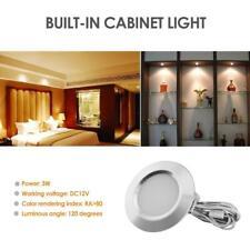 Warm White LED Under Cabinet Light Downlight Showcase Wardrobe Kitchen Lamp Home