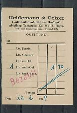 "alte Rechnung: "" Heidemann & Pelzer Hagen "" 22.2.48"