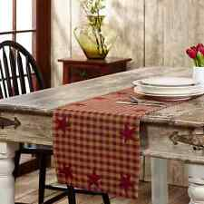 "Burgundy STAR 36"" TABLE RUNNER COUNTRY PRIMITIVE RUSTIC DECOR VHC BRANDS*"