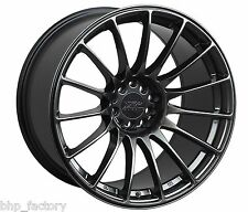 "XXR 550 18"" 8.75J ET19 5x100 5x114.3 CHROME BLACK RIMS ALLOYS WHEELS LIGHT Z2789"