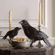 Fake Stuffed Halloween Black Crow Bird Prop Raven Artificial Faux Decoration