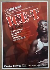 ICE T HIP HOP FLYER UK TOUR GANGSTER RAP