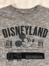 Disney Disneyland Mickey Mouse Short Sleeve T-Shirt Men's Small Gray