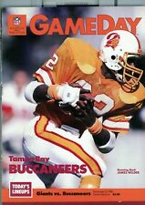 1985 11/3 football program  NEW YORK GIANTS TAMPA BAY BUCCANEERS GIANT STADIUM