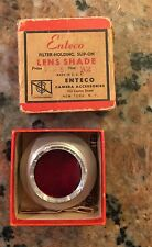 Vintage Enteco Slip-on Filter Holder and Lens Shade in Original Box