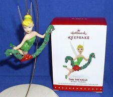 Hallmark Ornament Disney Fairies Tink the Halls 2015 Tinker Bell with Garland