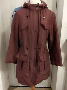 Marks and Spencer Per Una Stormwear, BERRY Hooded Jacket Coat, Size 10