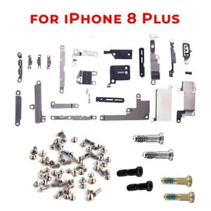 For iPhone 8Plus Bracket + Screw Set Inner Metal Shields Holding Brackets Screws