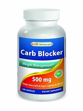 Best Naturals Carb Blocker with white kidney bean Weight Management 180 Capsules