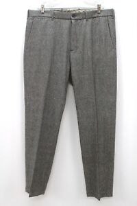 gray herringbone BANANA REPUBLIC tweed pants trousers vintage straight 38 x 32