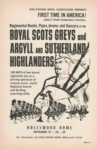 1962 ad Royal Scots Greys and Argyll & Sutherland Highlanders first time America