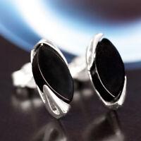 Onyx Silber 925 Ohrringe Damen Schmuck Sterlingsilber S0452