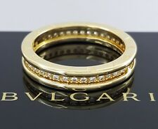 Bvlgari Bulgari B. Zero 1 Italy 18K Yellow Gold 0.5 Diamond Eternity Band / Ring