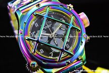 Invicta Men 52mm Russian Diver Nautilus Caged Iridescent Rainbow Chrono SS Watch