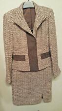 Linda Allard Ellen Tracy Brown/Tan Tweed Blazer & Matching Skirt Suit Size 4P