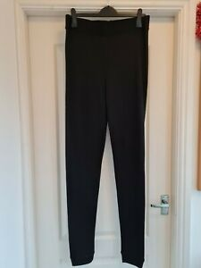 Ex M&S Ladies Black Thermal Cuffed Leggings Trousers UK 20 bnwot
