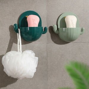 Cactus Drain Soap Box Bathroom Cartoon Soap Holder Wall-mounted Soap Dish Rack
