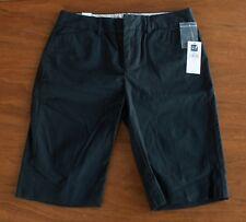 NWT Gap Stretch Women's Size 0 Black Bermuda Casual Shorts