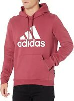 adidas Must Haves Badge Of Sport Fleece Pullover Red Hoodie Adult XXL