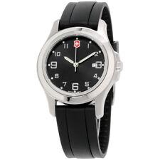 Victorinox Swiss Army Women's 26041.CB 'Garrison' Black Silicone Watch