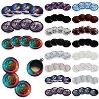 4PC Set Marble Design ROUND Ceramic Stone Coasters For Mug Coffee Cup