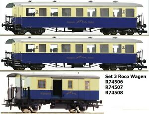 ROCO 74506 74507 74508 Set 3 Passenger Car Optional Wheelsets Free New Boxed