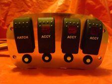 Marine Switch Panel with Breakers Checkmate Baja Pantera Scarab Custom Donzi