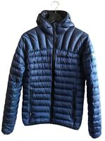 Superdry Sport Core Down Mens XS Navy Blue Puffer Zip Hooded Jacket M5000DR