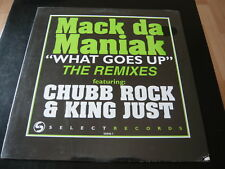 "MACK DA MANIAK...WHAT GOES UP REMIXES CHUBB ROCK....SEALED USA 12"" SINGLE IMPORT"