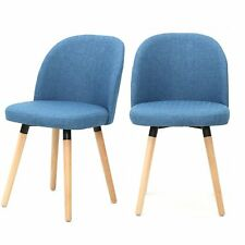 Magshion Fabric Upholstered Dinning Living room Chairs Guest Chairs Set of 2 Bl