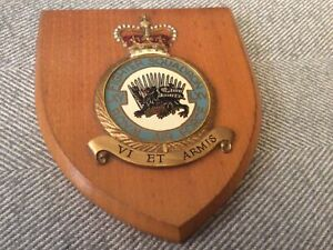 Vintage Hand Painted RAF LXV (65 East India) Fighter Squadron Wooden Plaque