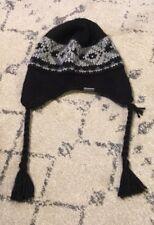 Columbia Beanie Hat Cap Toboggan Adult Striped One Size Gray Black