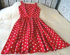 Red and white spotted summer dress by POLKA DOT POLLY Size 8 - 10