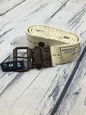 NWT AMERICAN EAGLE OUTFITTERS wht//ylw//org canvas belt