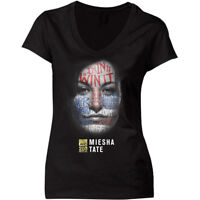 UFC Women's Miesha Tate War Paint V-Neck T-Shirt - Black