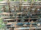 1880s Unique Antique Gothic Cast-Iron Church Yard Fence Crosses 12 pieces 80 ft